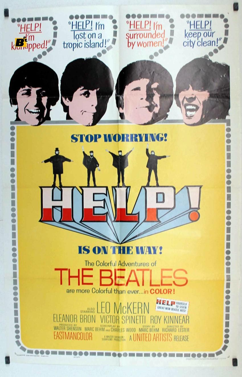 HELP!/HELP THE BEATLES/POSTER   [ ]   HELP THE BEATLES - 1965Dir RICHARD LESTERCast: THE BEATLESPAUL McCARTNEYRINGO STARRJOHN LENNONGEORGE HARRISONUSA - -70X100-Cm.-27X41-INCHES-1 SH.POSTER