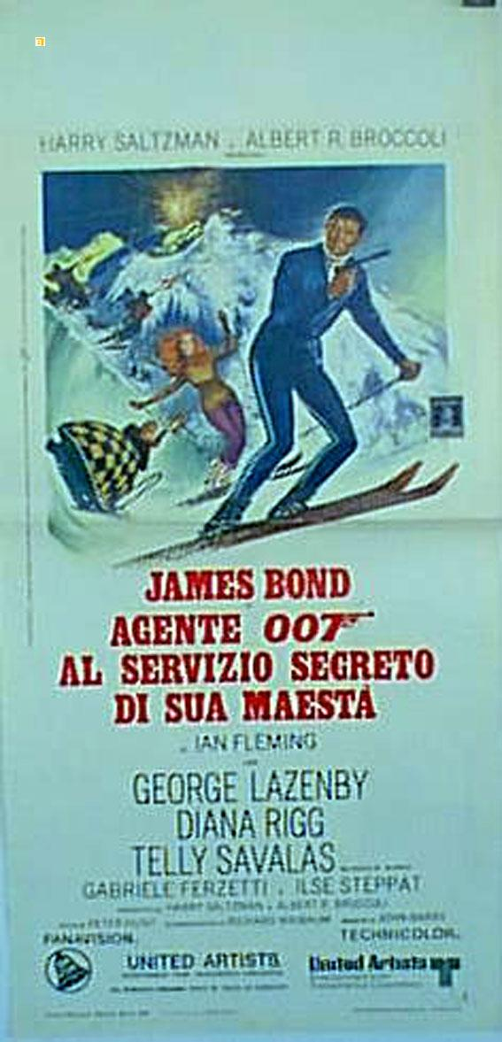 ON HER MAJESTY?S SECRET SERVICE MOVIE POSTER/JAMES BOND AGENTE 007 AL SERVICIO SEGRETO DI SUA MAESTA/LOCANDINA