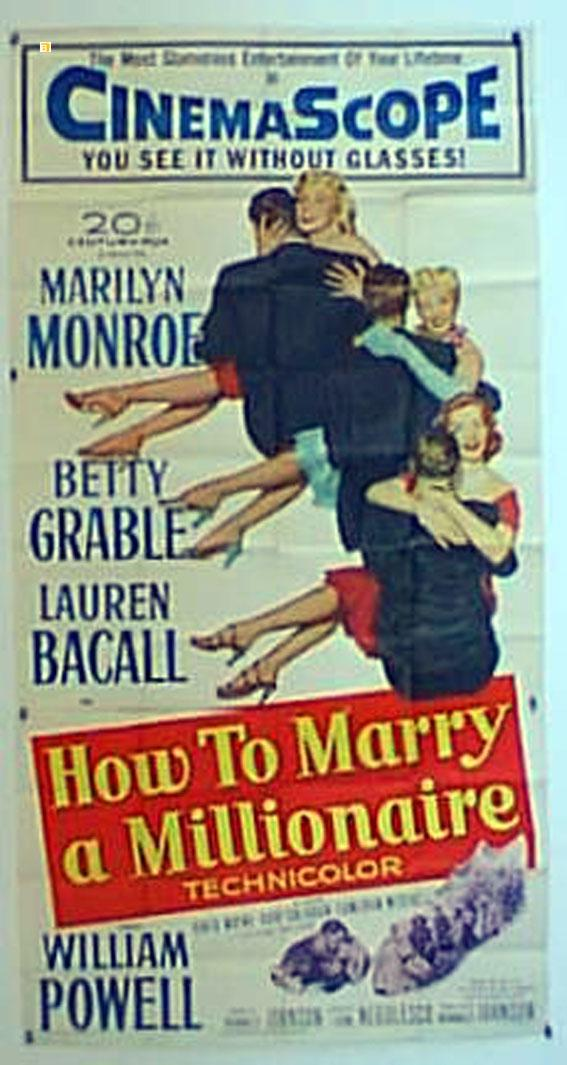HOW TO MARRY A MILLIONAIRE MOVIE POSTER/HOW TO MARRY A MILLIONAIRE/POSTER
