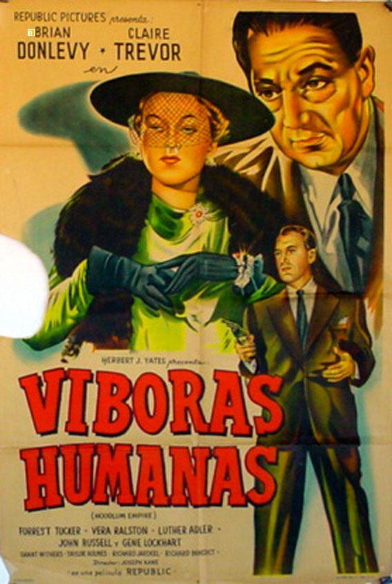 HOODLUM EMPIRE MOVIE POSTER/VIBORAS HUMANAS/POSTER