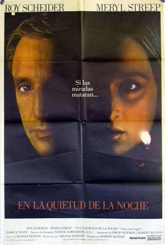 STILL OF THE NIGHT MOVIE POSTER/EN LA QUIETUD DE LA NOCHE/POSTER