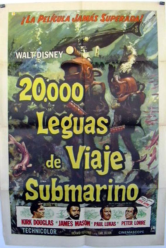 20000 Leagues Under The Sea Movie Poster 20 000 Leguas De Viaje Submarino Poster Vialibri