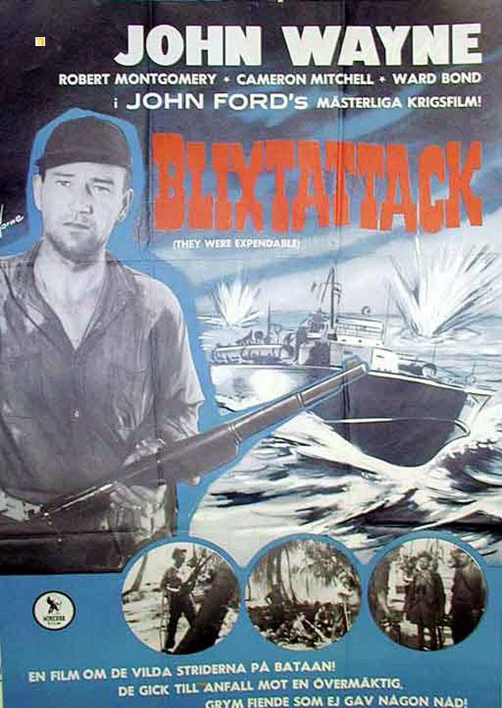 THEY WERE EXPENDABLE MOVIE POSTER/BLIXTATTACK/POSTER