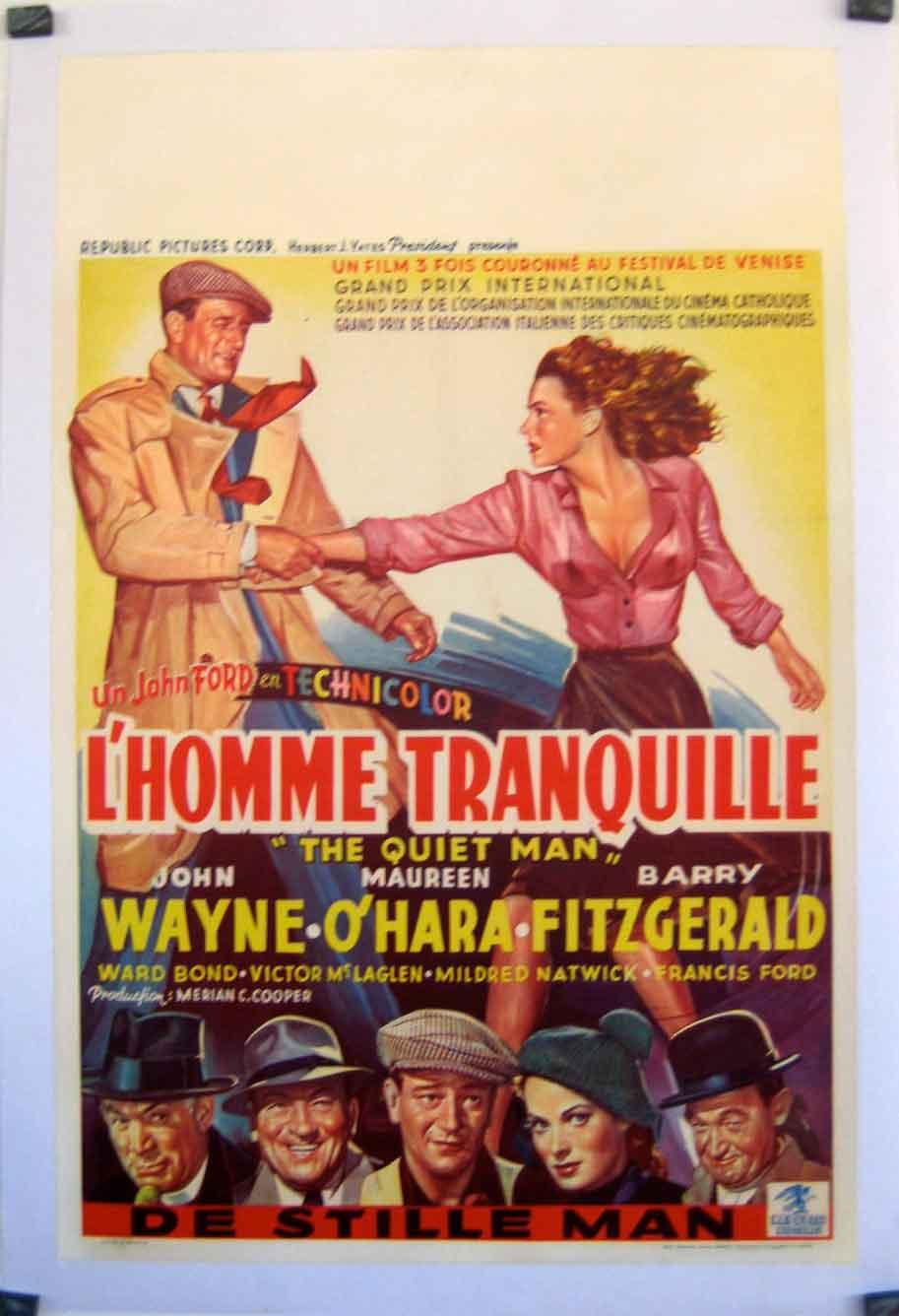 THE QUIET MAN MOVIE POSTER/HOMME TRANQUILLE, L?/POSTER