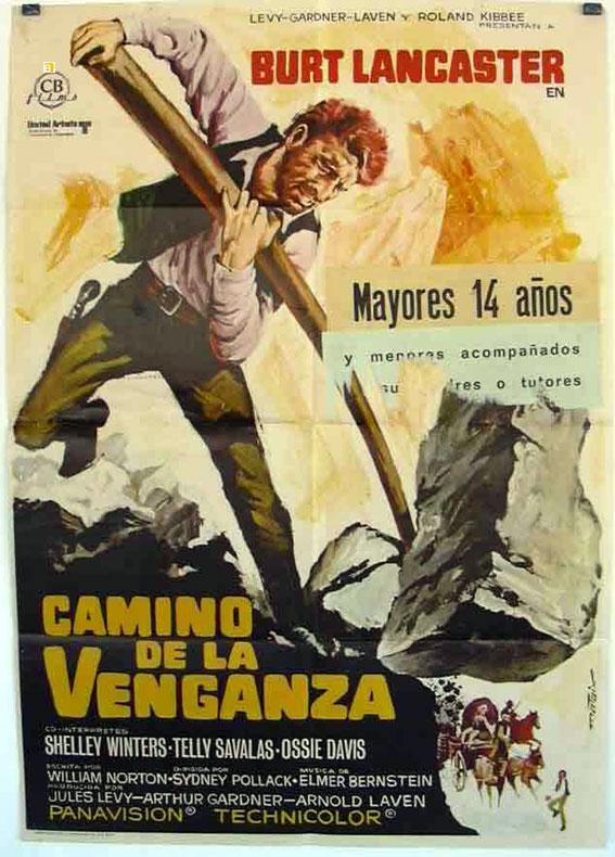 THE SCALPHUNTERS MOVIE POSTER/CAMINO DE LA VENGANZA/POSTER