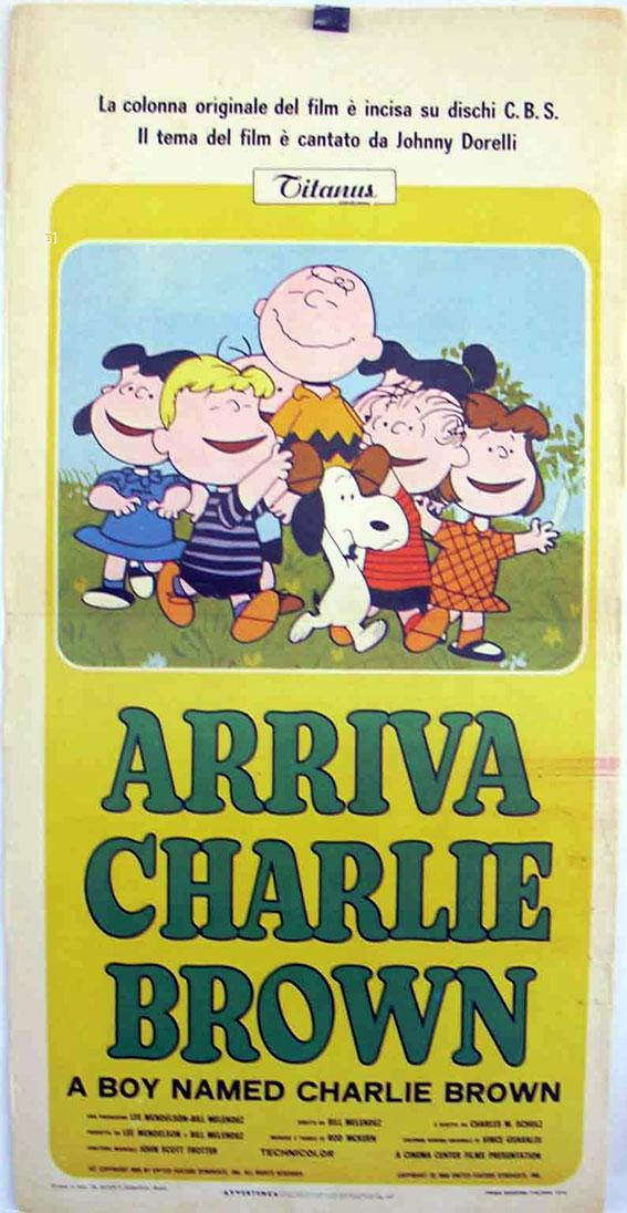 A BOY NAMED CHARLIE BROWN MOVIE POSTER/ARRIVA CHARLIE BROWN/LOCANDINA