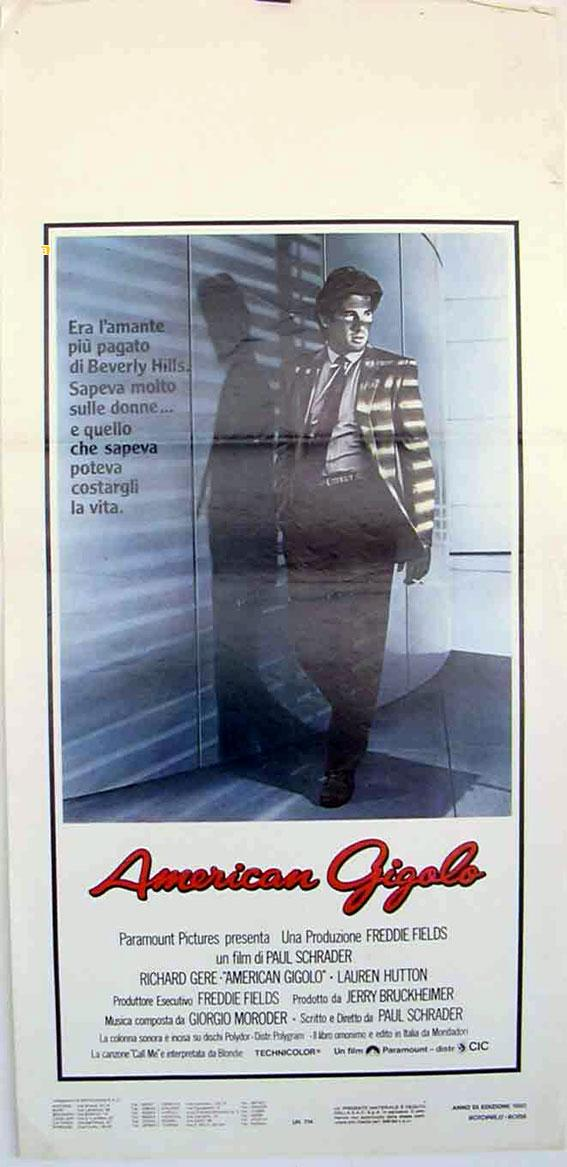 AMERICAN GIGOLO MOVIE POSTER/AMERICAN GIGOLO/LOCANDINA