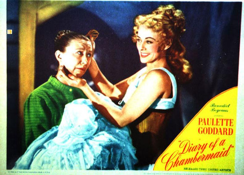 DIARY OF A CHAMBERMAID MOVIE POSTER/DIARY OF A CHAMBERMAID/US LOBBY CARD