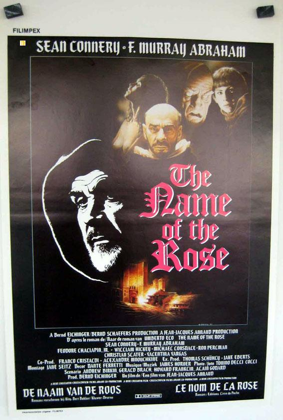 THE NAME OF THE ROSE MOVIE POSTER/NAME OF THE ROSE, THE/POSTER