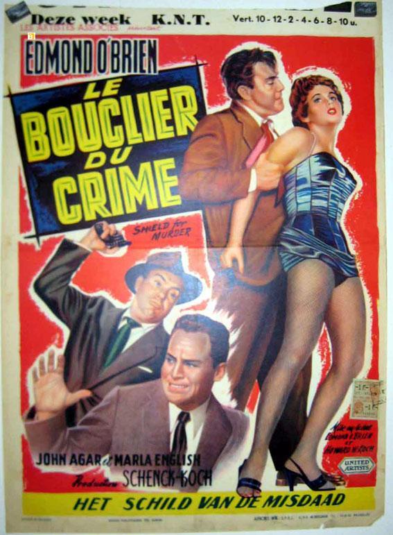 SHIELD FOR MURDER MOVIE POSTER/LE BOUCLIER DU CRIME/POSTER