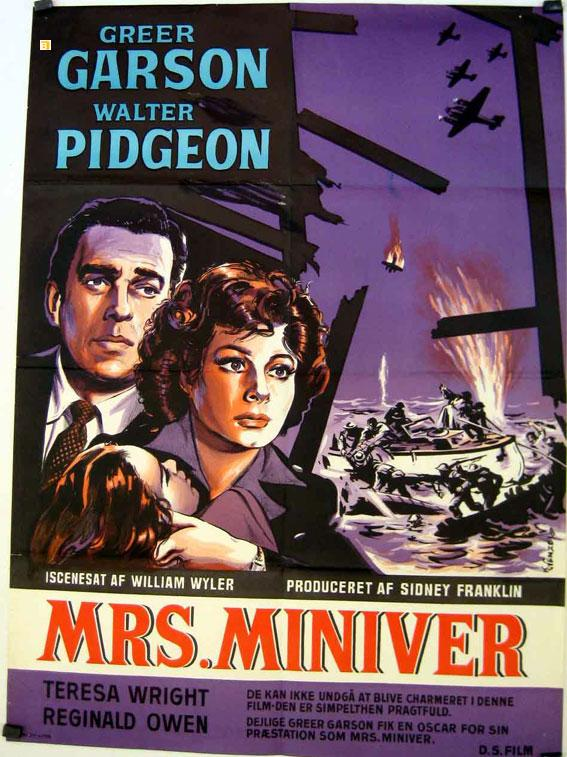 MRS. MINIVER MOVIE POSTER/MRS. MINIVER/POSTER