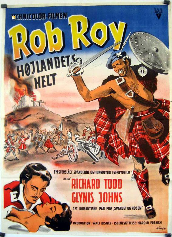 ROB ROY, THE HIGHLAND ROGUE MOVIE POSTER/ROB ROY/POSTER