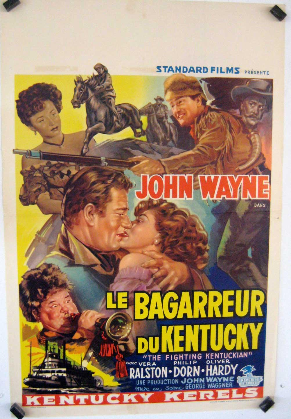 THE FIGHTING KENTUCKIAN MOVIE POSTER/BAGARREUR DU KENTUCKY, LE/POSTER