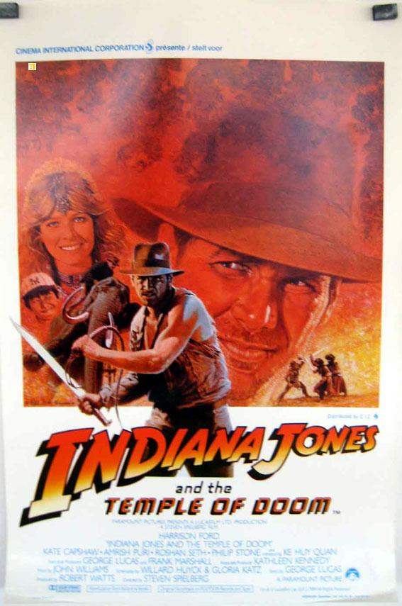 INDIANA JONES AND THE TEMPLE OF DOOM MOVIE POSTER/INDIANA JONES AND THE TEMPLE OF DOOM/POSTER