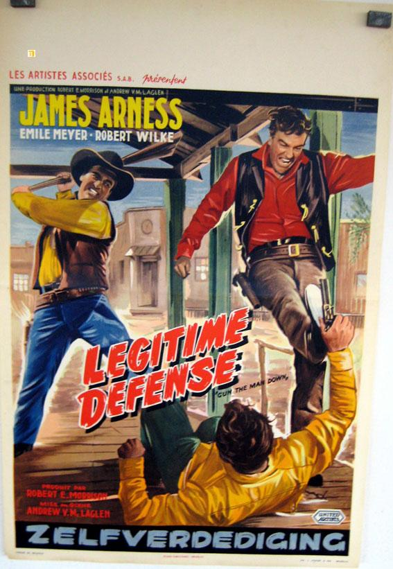 GUN THE MAN DOWN MOVIE POSTER/LEGITIME DEFENSE/POSTER