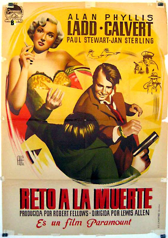 APPOINTMENT WITH DANGER MOVIE POSTER/RETO A LA MUERTE/POSTER