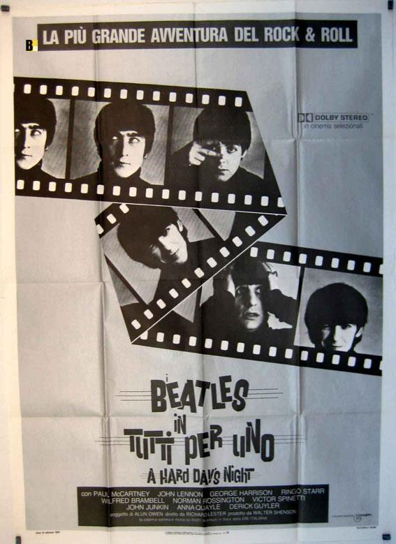 A HARD DAY?S NIGHT MOVIE POSTER/BEATLES IN