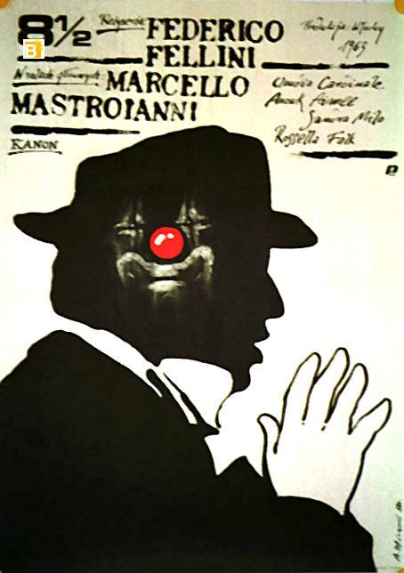 viaLibri ~ OTTO E MEZZO MOVIE POSTER/8 1/2 FELLINI/POSTER