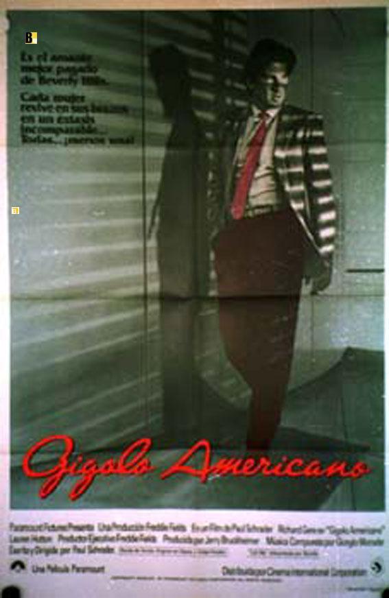 AMERICAN GIGOLO MOVIE POSTER/GIGOLO AMERICANO/POSTER