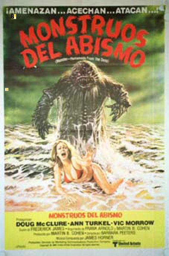 HUMANOIDS FROM THE DEEP MOVIE POSTER/MONSTRUOS DEL ABISMO/POSTER
