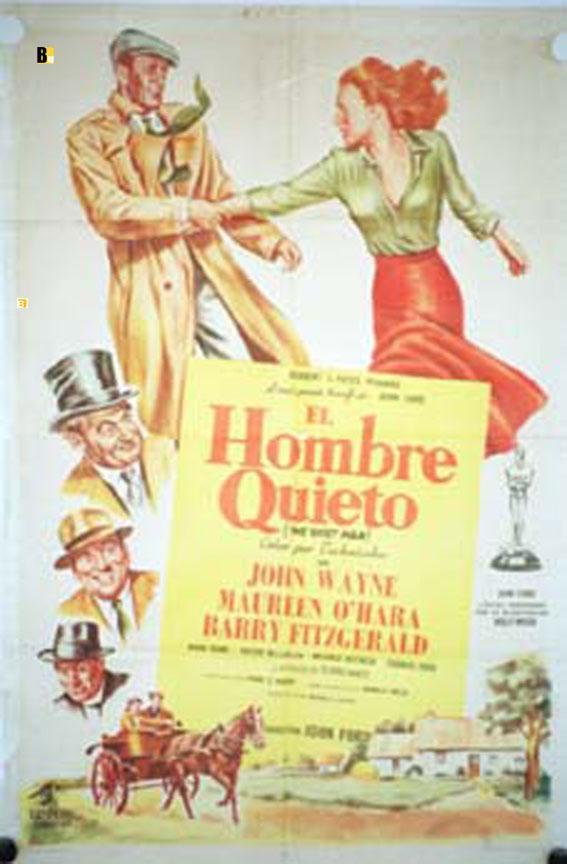 THE QUIET MAN MOVIE POSTER/HOMBRE QUIETO, EL/POSTER