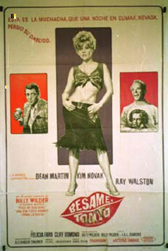 KISS ME, STUPID MOVIE POSTER/BESAME TONTO/POSTER