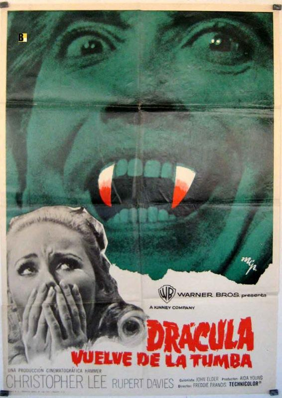DRACULA HAS RISEN FROM THE GRAVE MOVIE POSTER/DRACULA VUELVE DE LA TUMBA,/POSTER