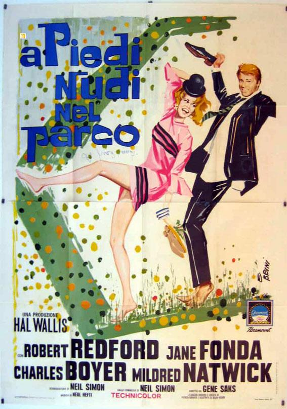 BAREFOOT IN THE PARK MOVIE POSTER/A PIEDI NUDI NEL PARCO/POSTER