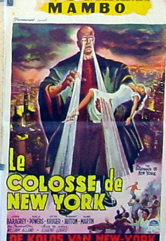 THE COLOSSUS OF NEW YORK MOVIE POSTER/COLOSSE DE NEW YORK, LE/POSTER