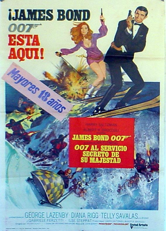 ON HER MAJESTY?S SECRET SERVICE MOVIE POSTER/007 AL SERVICIO SECRETO DE SU MAJESTAD/POSTER
