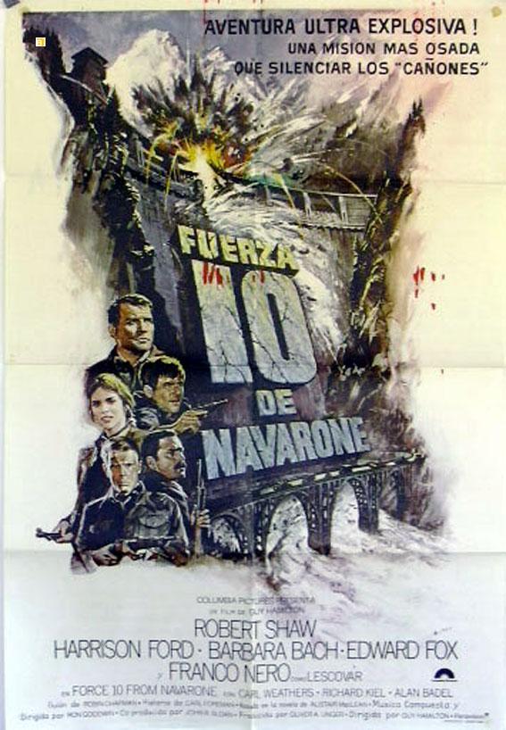 FORCE 10 FROM NAVARONE MOVIE POSTER/FUERZA 10 DE NAVARONE/POSTER