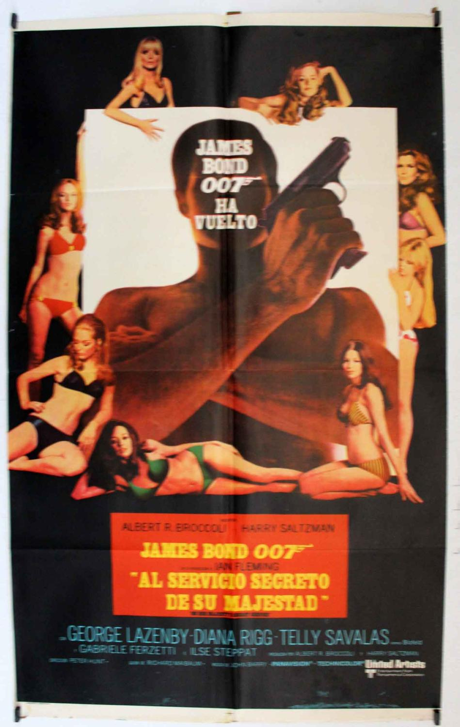 ON HER MAJESTY?S SECRET SERVICE MOVIE POSTER/AL SERVICIO SECRETO DE SU MAJESTAD JAMES BOND 007/POSTER