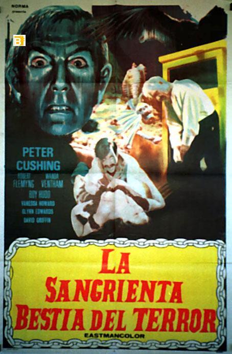 THE BLOOD BEAST TERROR MOVIE POSTER/SANGRIENTA BESTIA DEL TERROR, LA/POSTER