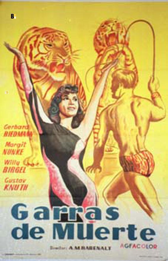GARRAS DE MUERTE - 1959Dir ARTHUR MARIA RABENALTCast: GERHARD RIEDMANNMARGIT NUNKEWILLY BIRGELGUSTAV KNUTHESPA?A - -70X100-Cm.-27X41-INCHES-1 SH.POSTER