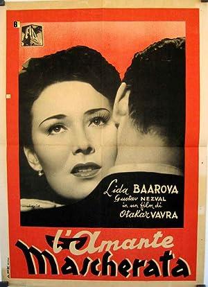 MOVIE POSTER/ MASKOVANA MILENKA/ LÍDA BAAROVÁ/ 1940/