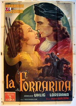 MOVIE POSTER/ FORNARINA, LA/ LIDA BAAROVA/ 1942/