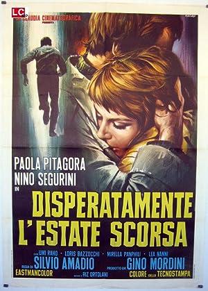 MOVIE POSTER/ DISPERATAMENTE L?ESTATE SCORSA/ Paola Pitagora/