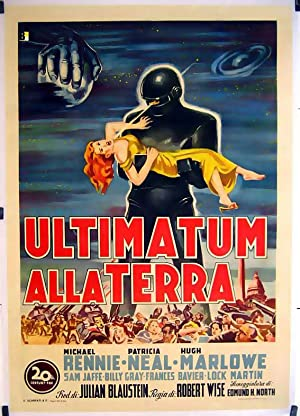 THE DAY THE EARTH STOOD STILL MOVIE POSTER/ULTIMATUM ALLA TERRA,/POSTER 2 SH