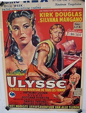 MOVIE POSTER/ ULISE/ KIRK DOUGLAS/ 1954/ MARIO