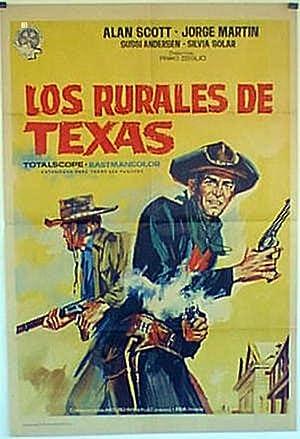TEXAS RANGERS MOVIE POSTER/RURALES DE TEXAS, LOS