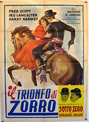 RIDIN' THE TRAIL MOVIE POSTER/TRIONFO DI ZORRO, IL/POSTER