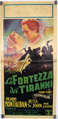 THE SARACEN BLADE MOVIE POSTER/FORTEZZA DEI TIRANNI, LA/LOCANDINA