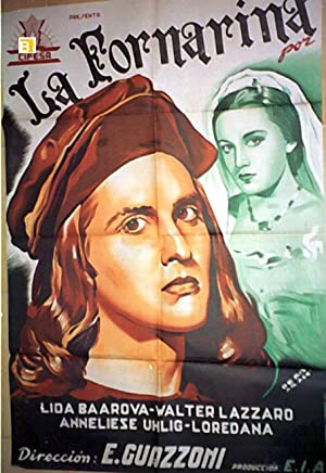 MOVIE POSTER/ LA FORNARINA/ LIDA BAAROVA/ 1942/