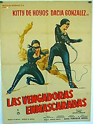 MOVIE POSTER/ LAS VENGADORAS ENMASCARADAS/ KITTY DE