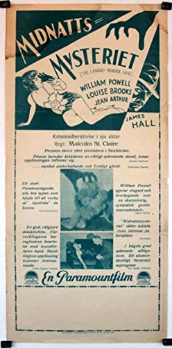 MIDNATTS MYSTERIET - 1929Dir MALCOLM ST. CLAIRCast: