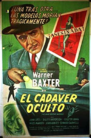 CRIME DOCTOR'S WARNING MOVIE POSTER/CADAVER OCULTO, EL/POSTER
