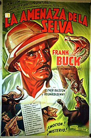 JUNGLE MENACE MOVIE POSTER/AMENAZA DE LA SELVA, LA/POSTER