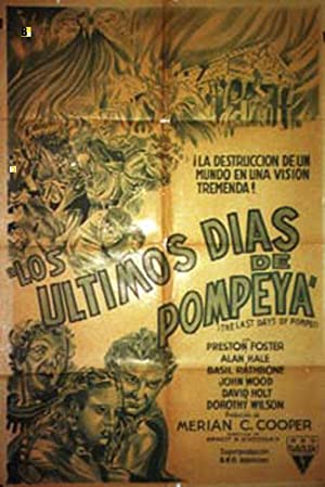 THE LAST DAYS OF POMPEII MOVIE POSTER/ULTIMOS