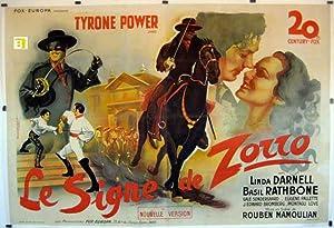 THE MARK OF ZORRO MOVIE POSTER/SIGNE DE
