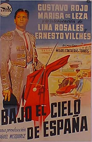 BAJO EL CIELO DE ESPAÑA MOVIE POSTER/BAJO
